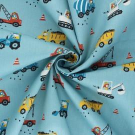 Poppy poplin cotton fabric - sarcelle Workplace x 10cm