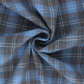 Tissu flanelle à carreaux Stuartfield - marron x 10cm