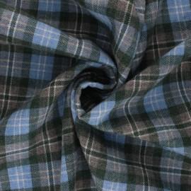 Tissu flanelle à carreaux Stuartfield - gris x 10cm