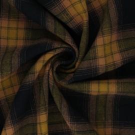 Tissu polycoton à carreaux Dunearn - jaune x 10cm