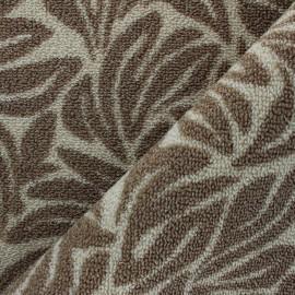 Woven anti-slip carpet fabric - taupe Ulysse x 10cm