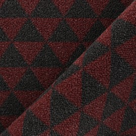 Woven anti-slip carpet fabric - red Pyra x 10cm