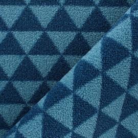 Tapis tissé anti-dérapant Pyra - Bleu x 10cm