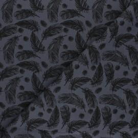 Tissu jersey Plumes légères - gris foncé x 10cm