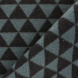 Woven anti-slip carpet fabric - grey blue Pyra x 10cm