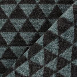 Woven anti-slip carpet fabric - grey blue Pyra x 10cm