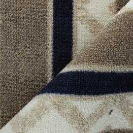 Woven anti-slip carpet fabric - taupe Reze x 10cm