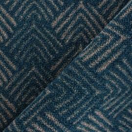 Woven anti-slip carpet fabric - blue Soki x 10cm