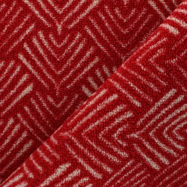Woven anti-slip carpet fabric - red Soki x 10cm