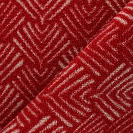 Woven anti-slip carpet fabric - red Soki x 10cm