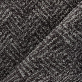 Woven anti-slip carpet fabric - grey Soki x 10cm