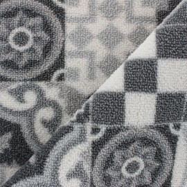 Woven anti-slip carpet fabric - grey Cimento x 10cm