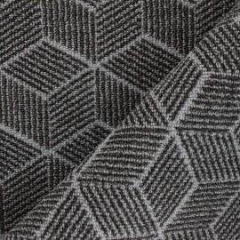 Woven anti-slip carpet fabric - grey Cubik x 10cm