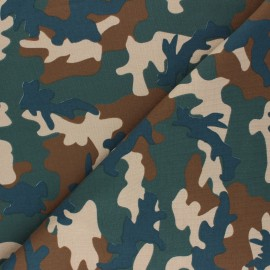 Printed Jersey fabric Army camouflage - brown x 10cm