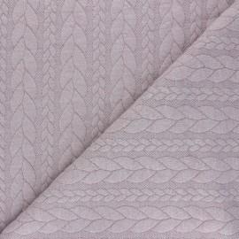 Tissu jersey Torsade - Bois de rose chiné x 10cm