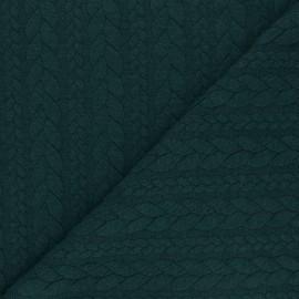Tissu jersey Torsade - Vert sapin chiné x 10cm