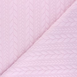 Twist jersey fabric - light pink x 10cm