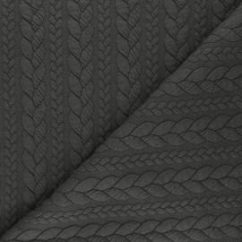 Tissu jersey Torsade - Cacao x 10cm