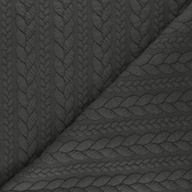 Twist jersey fabric - cacao x 10cm