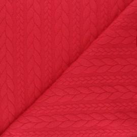 Twist jersey fabric - red x 10cm