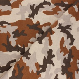 Printed Jersey fabric - beige Army camouflage x 10cm