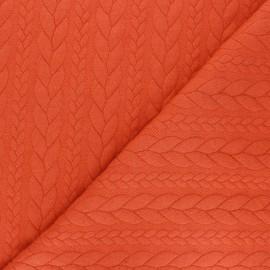 Twist jersey fabric - carrot x 10cm