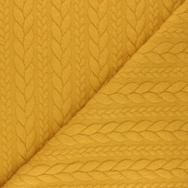 Tissu jersey Torsade - Miel x 10cm