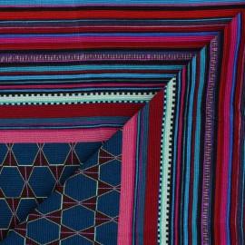 Tissu panneau polyviscose élasthanne Peru - bleu pétrole x 90cm