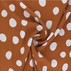 Polyester Crepe fabric - cinnamon Carmen x 10cm