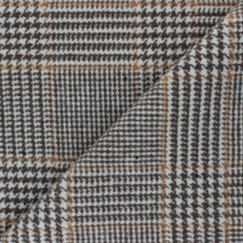 Houndstooth Wool fabric - raw Jeanne x 10cm