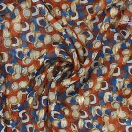Muslin fabric - cinnamon Waris x 50cm