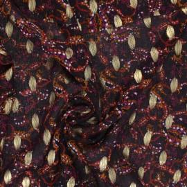 Tissu Mousseline Jodhpur - prune x 50cm