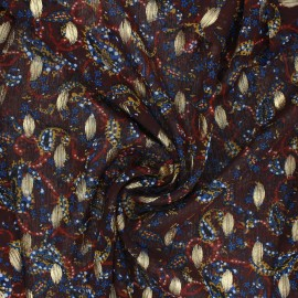 Tissu Mousseline Jodhpur - marron x 50cm