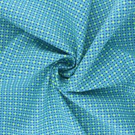 Tissu coton Petit Pan Django - bleu x 10cm