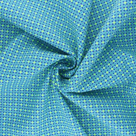 Petit Pan cotton fabric - blue Django x 10cm