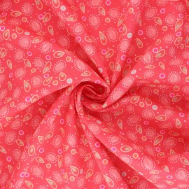 Petit Pan cotton fabric - pink Tsigane x 10cm