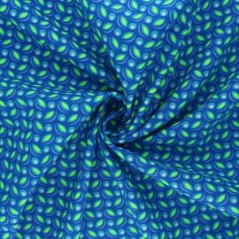 Tissu coton Petit Pan Cereal - bleu x 10cm