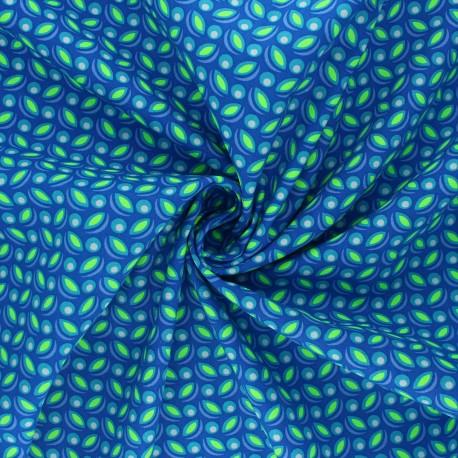 Petit Pan cotton fabric - blue Cereal x 10cm