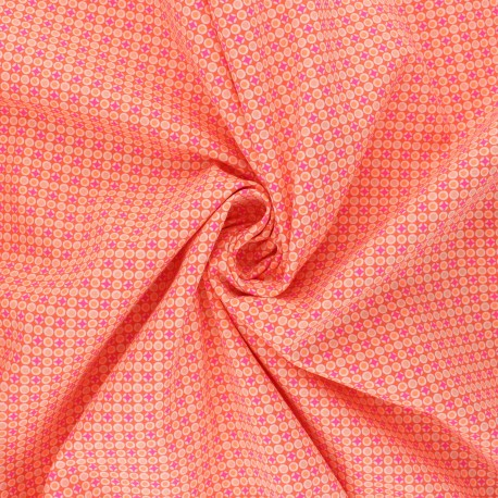 Petit Pan cotton fabric - tangerine Django x 10cm