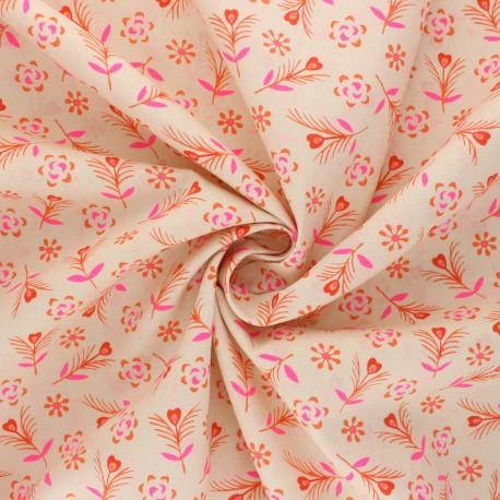 Petit Pan cotton fabric - beige Gitane x 10cm