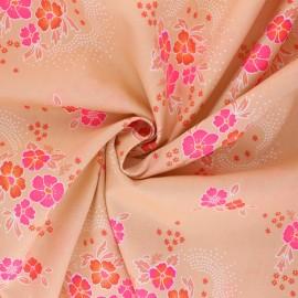 Tissu coton Petit Pan Folksy - pêche x 10cm