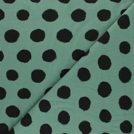Tissu jersey Vive les pois - vert sauge x 10cm
