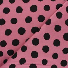 Printed Jersey fabric - pink Vive les pois x 10cm