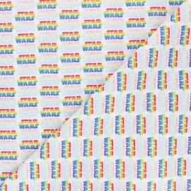 Tissu coton cretonne Rainbow Star Wars - blanc x 10cm