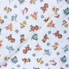 Tissu coton cretonne L'équipe Pat Patrouille - blanc x 10cm