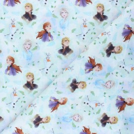 Cotton fabric - white Royaume d'Arendelle x 10 cm