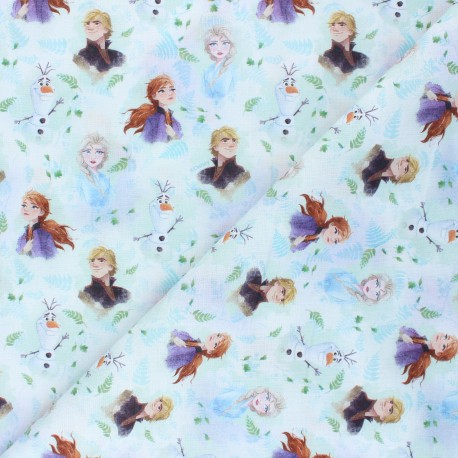 Cotton fabric - white Royaume d'Arendelle x 10 cm