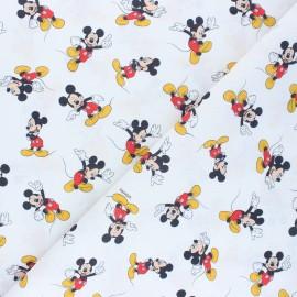 Cretonne cotton fabric - white Mickey Mouse x 10 cm
