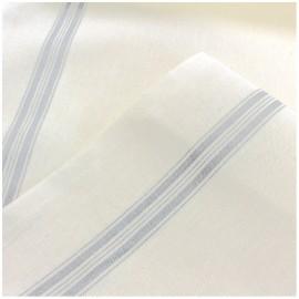 Tissu toile torchon gris x 10cm