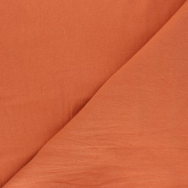 Plain washed cotton fabric - apricot Dili x 10cm